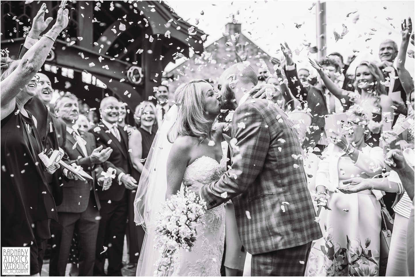 Bowcliffe Hall wedding confetti photo