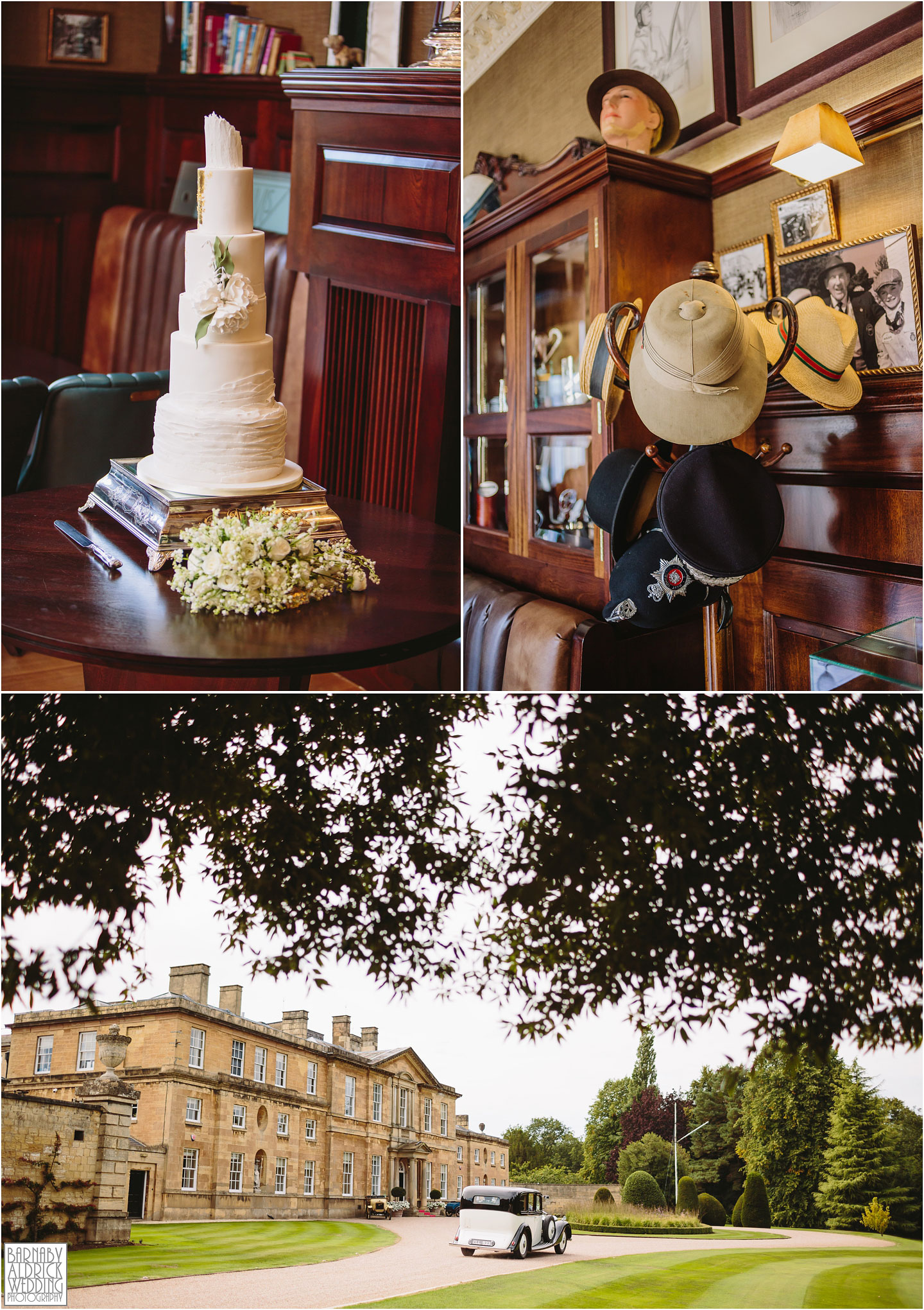 Bowcliffe Hall country house wedding details in Bramham in Yorkshire