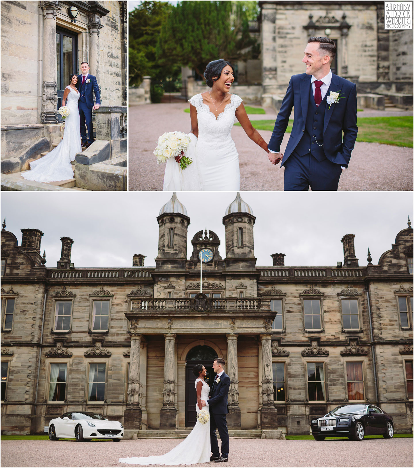 Anglo Indian couple portraits at a wedding at Sandon Hall, Sandon Hall Wedding photographs in Staffordshire, Sandon Hall Stafford wedding photos, Midlands exclusive country house wedding venue