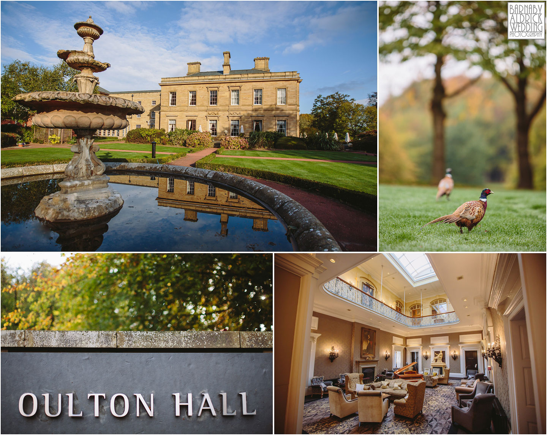 Oulton Hall wedding photographer, autumn wedding photo at Oulton Hall, Leeds wedding venues, West Yorkshire wedding hotels