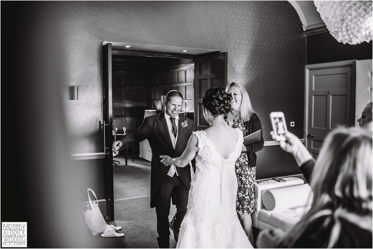 Father daughter wedding moment at Thornbridge Hall Derbyshire Wedding Photos, Thornbridge Hall Wedding Photography, Autumnal Derbyshire Wedding, Derbyshire Wedding Photographer