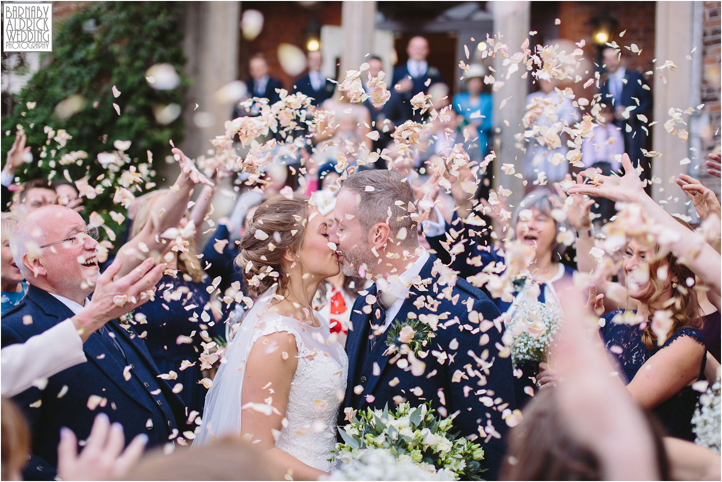 Amazing confetti wedding photo at Rowton Castle Wedding Photos, Shropshire Wedding Photographer, Shrewsbury wedding venue, Amazing UK Castle Wedding