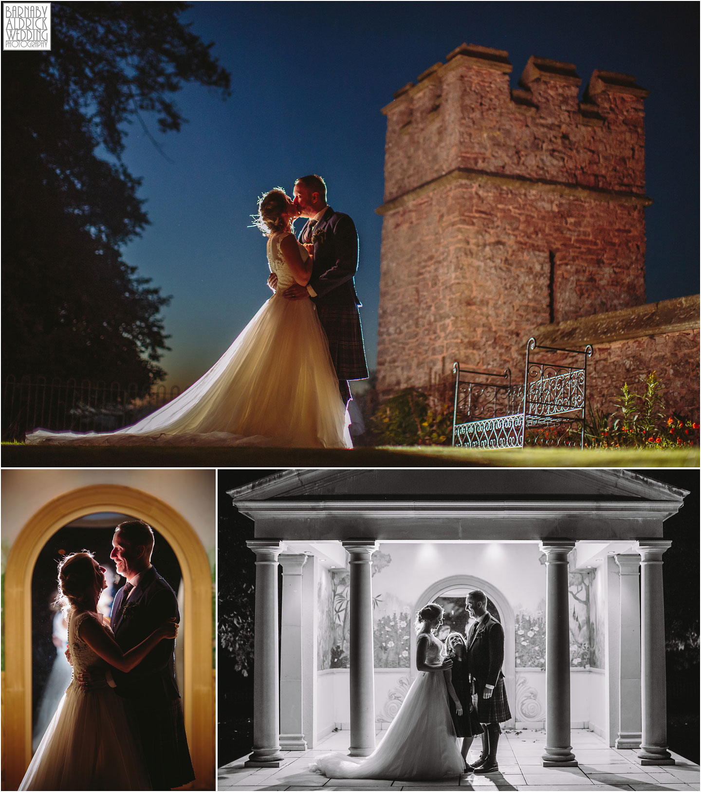 Evening wedding couple portraits at Rowton Caste, Shropshire Wedding Photographer, Shrewsbury wedding venue, Amazing UK Castle Wedding