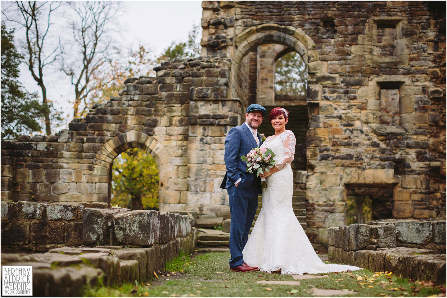Leeds Town Hall and Kirkstall Abbey peaky blinders Wedding photos