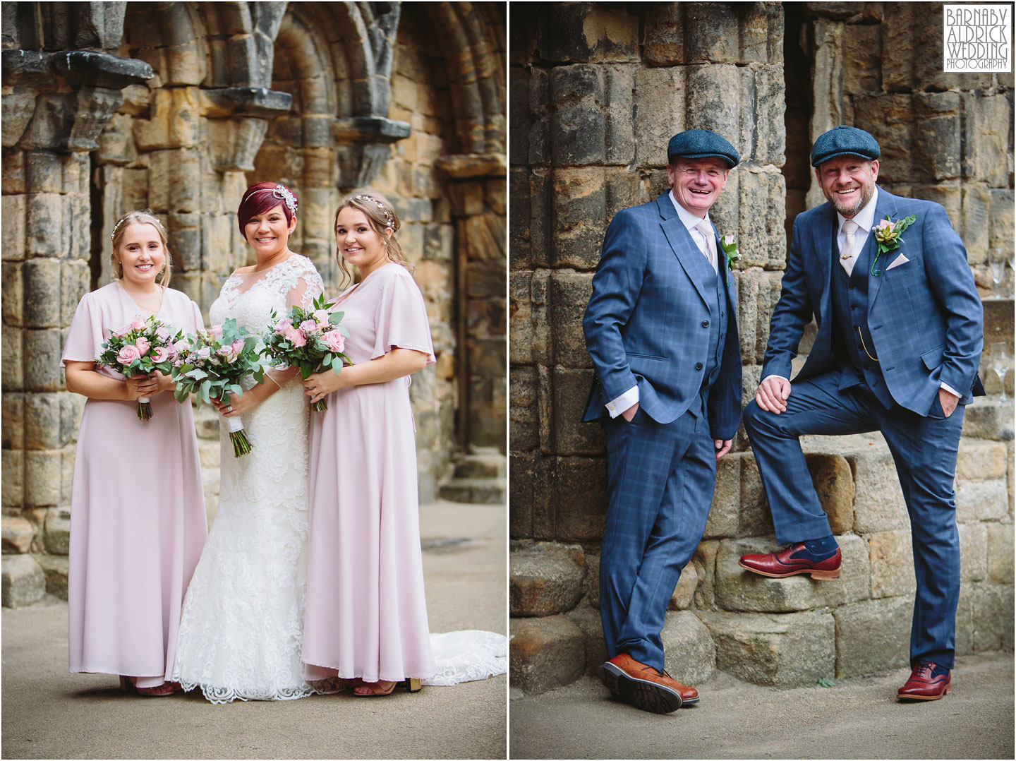 Wedding group shots at Kirkstall Abbey Leeds, Kirkstall Abbey Wedding photography