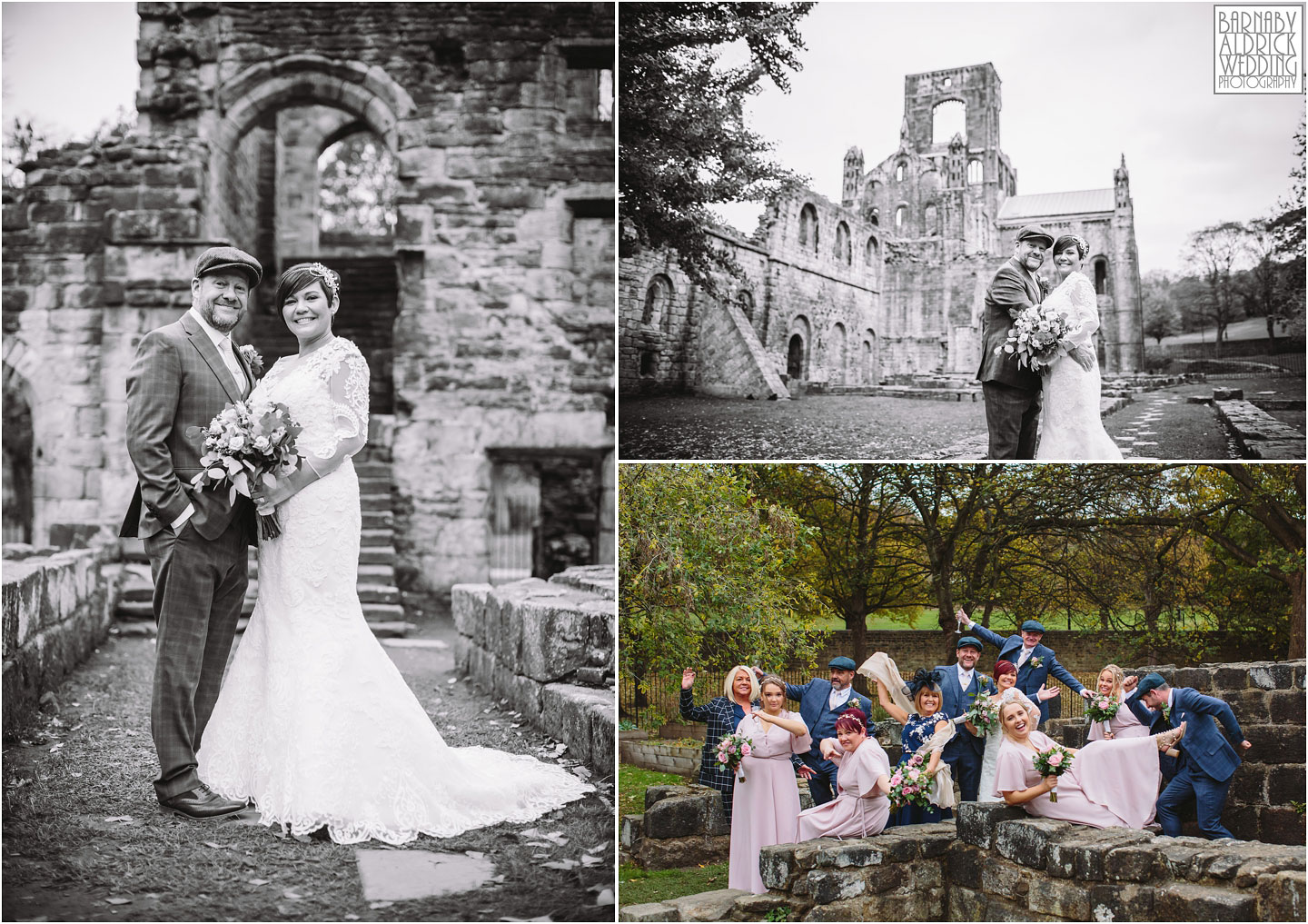 Wedding portraits at Kirkstall Abbey Leeds, unusual Leeds wedding venues,