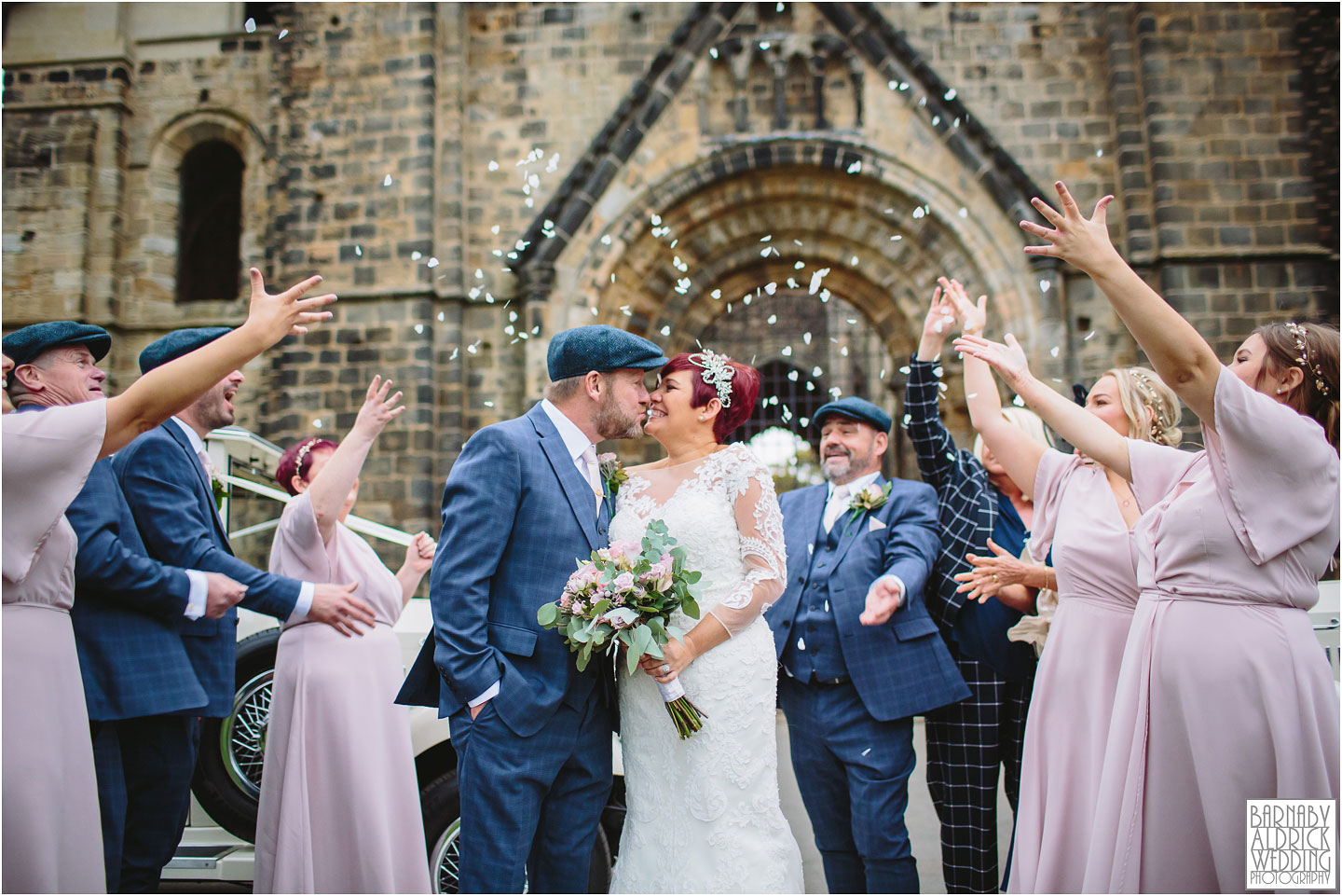 Wedding Confetti at Kirkstall Abbey Leeds, unusual Leeds wedding reception venues,