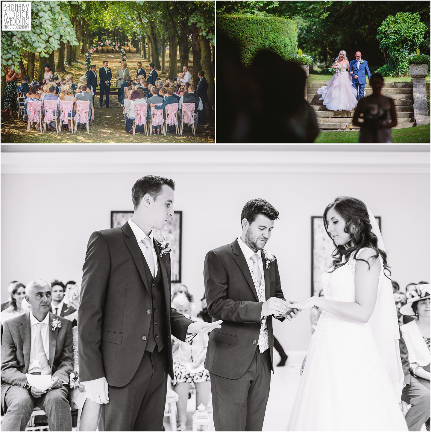 Outdoor Sapphire service at Saltmarshe Hall near Goole in East Yorkshire, Wedding photography at Saltmarshe Hall, East Yorkshire Wedding Photographer,