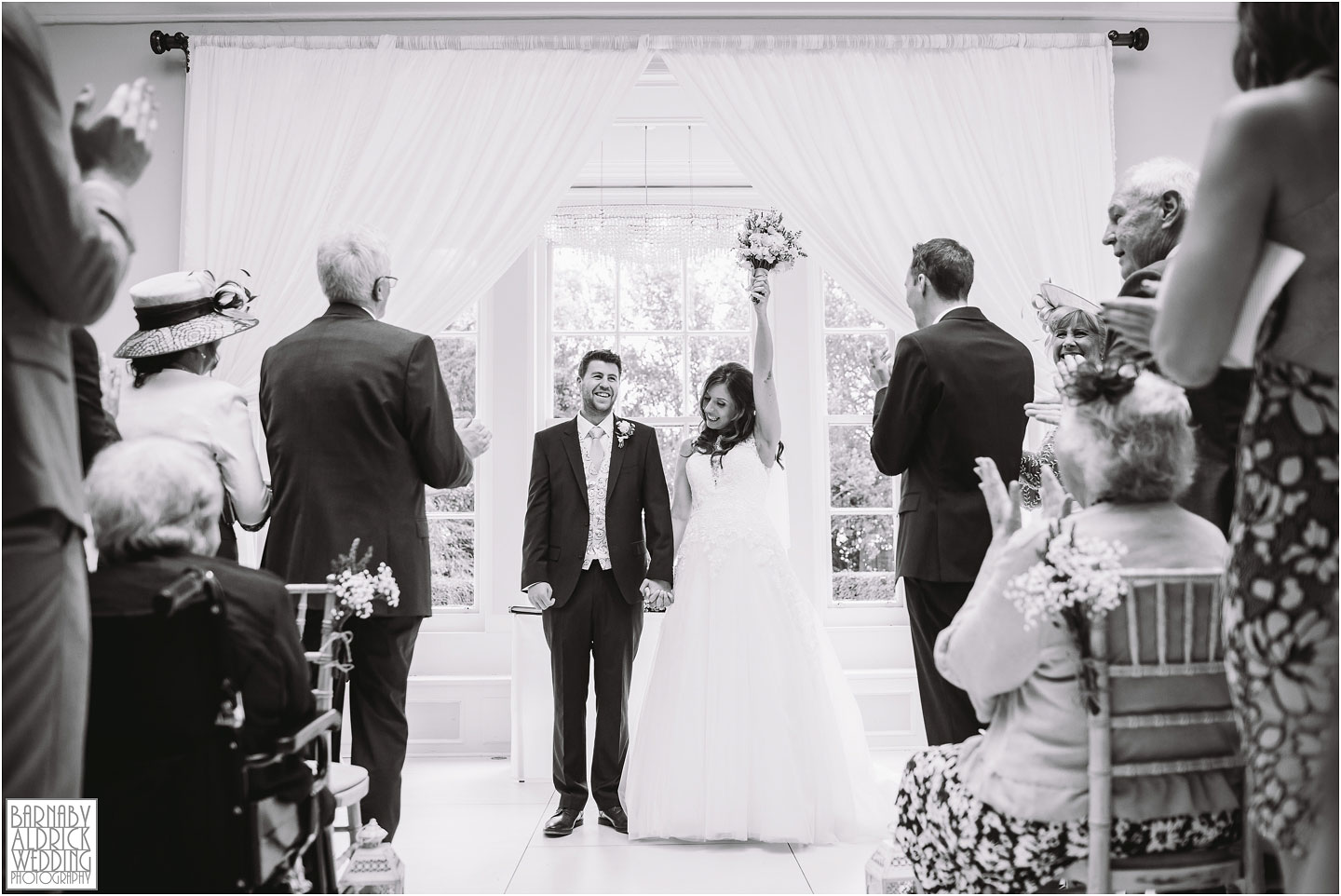 Wedding ceremony joy at Saltmarshe Hall near Goole in East Yorkshire, Wedding photography at Saltmarshe Hall, East Yorkshire Wedding Photographer