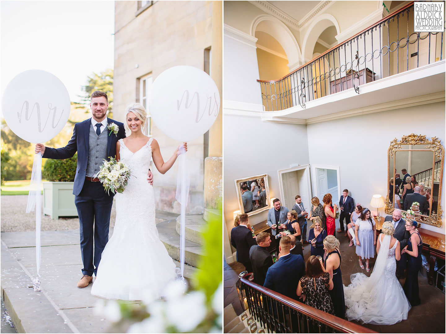 The wedding reception at Saltmarshe Hall near Goole in East Yorkshire, Wedding photography at Saltmarshe Hall, East Yorkshire Wedding Photographer Barnaby Aldrick