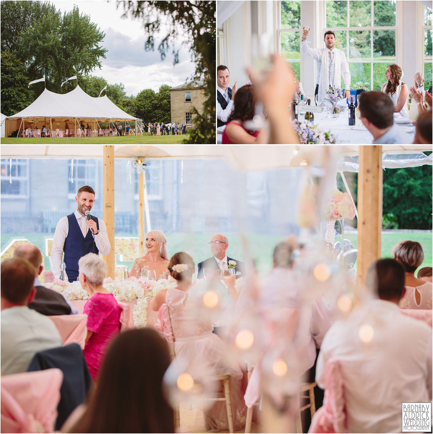 Papakata Sperry tent teepee wedding breakfast at Saltmarshe Hall near Goole in East Yorkshire, Wedding photography at Saltmarshe Hall, East Yorkshire Wedding Photographer Barnaby Aldrick