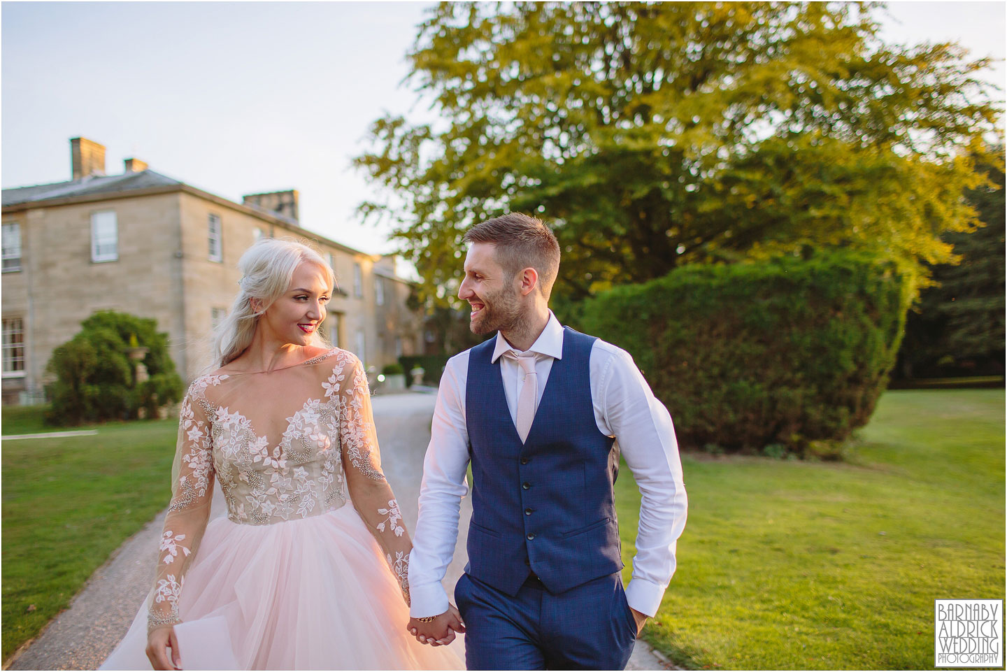 Golden Hour portraits at Saltmarshe Hall near Goole in East Yorkshire, Wedding photography at Saltmarshe Hall, East Yorkshire Wedding Photographer Barnaby Aldrick