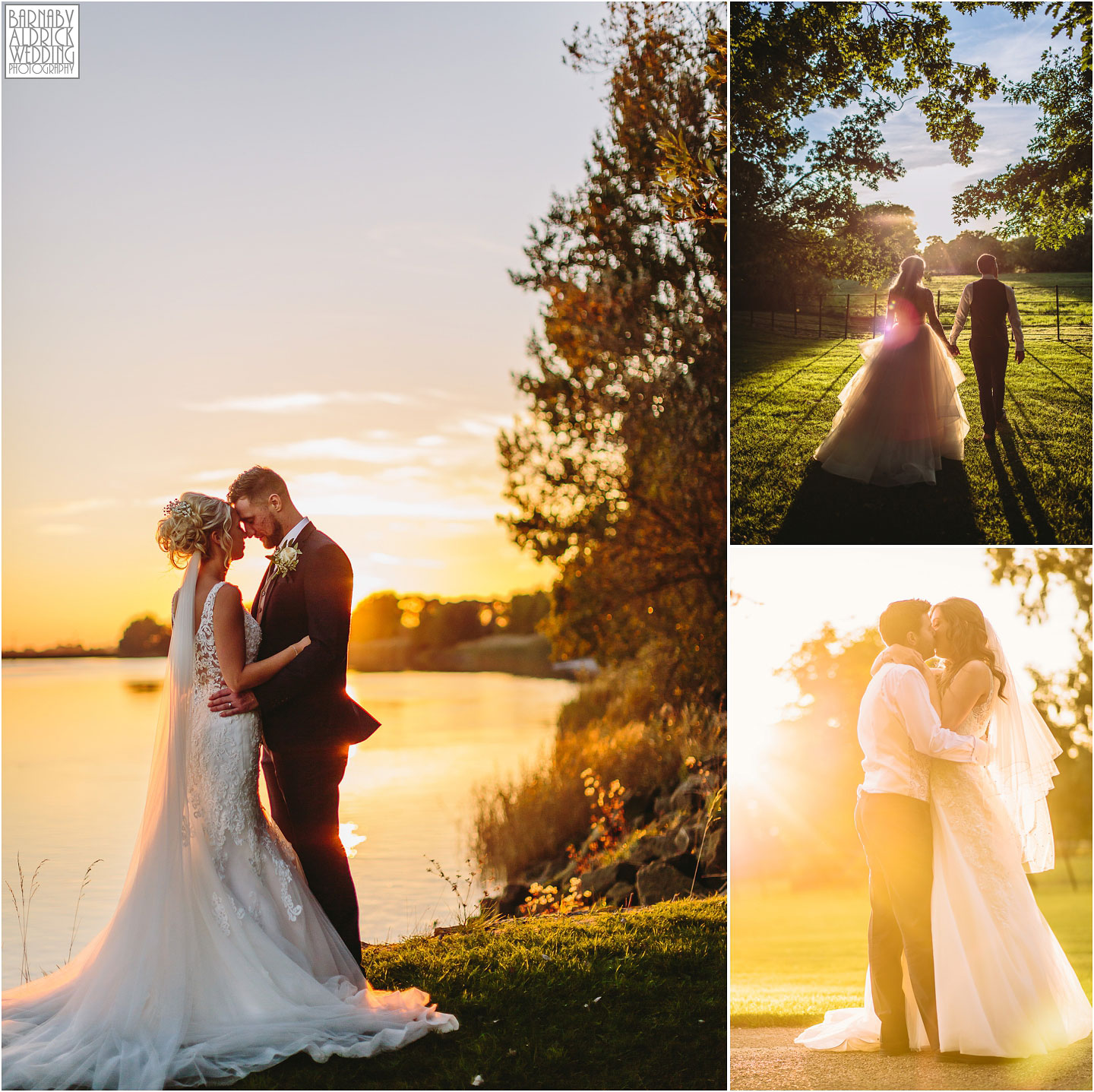 Sunset river photos at Saltmarshe Hall near Goole in East Yorkshire, Wedding photography at Saltmarshe Hall, East Yorkshire Wedding Photographer Barnaby Aldrick