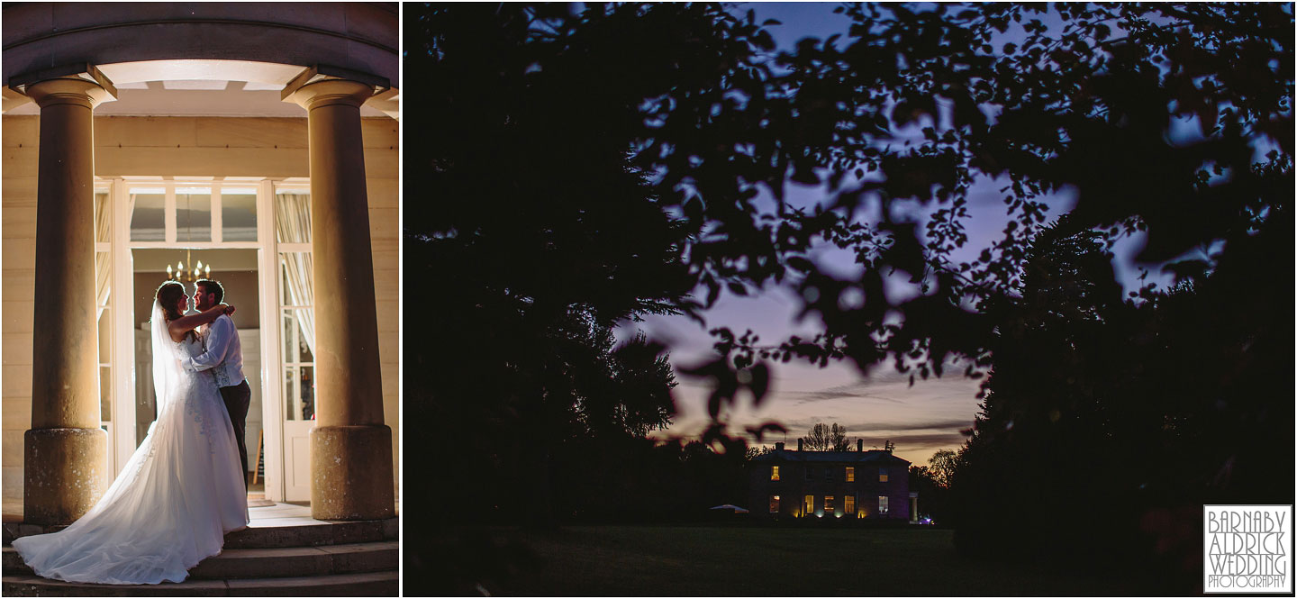 Night time wedding photos at Saltmarshe Hall near Goole in East Yorkshire, Wedding photography at Saltmarshe Hall, East Yorkshire Wedding Photographer Barnaby Aldrick