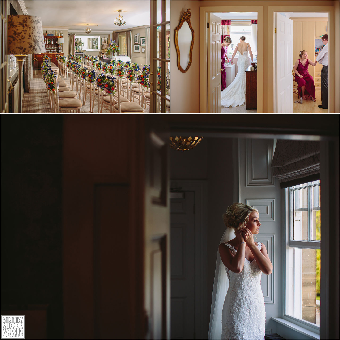 A bride gets ready at Saltmarshe Hall near Goole, Amazing Yorkshire Wedding Photos, Best Yorkshire Wedding Photos 2018