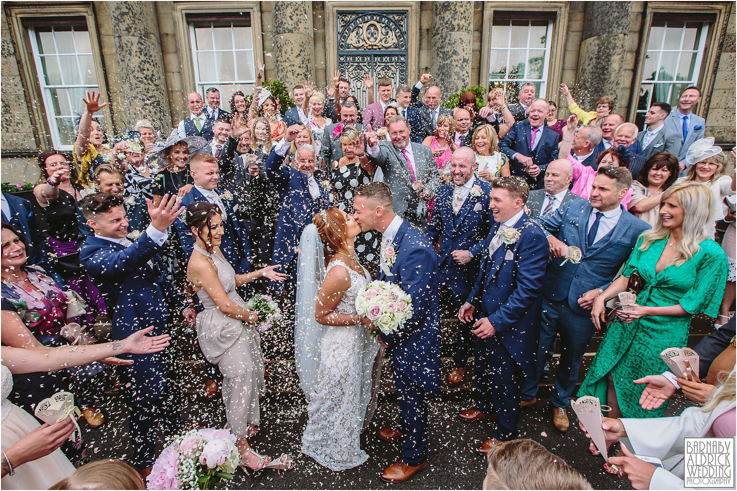Denton Hall Wedding Confetti Photograph, Ilkley Wedding Photos, Amazing Yorkshire Wedding Photos, Best Yorkshire Wedding Photos 2018