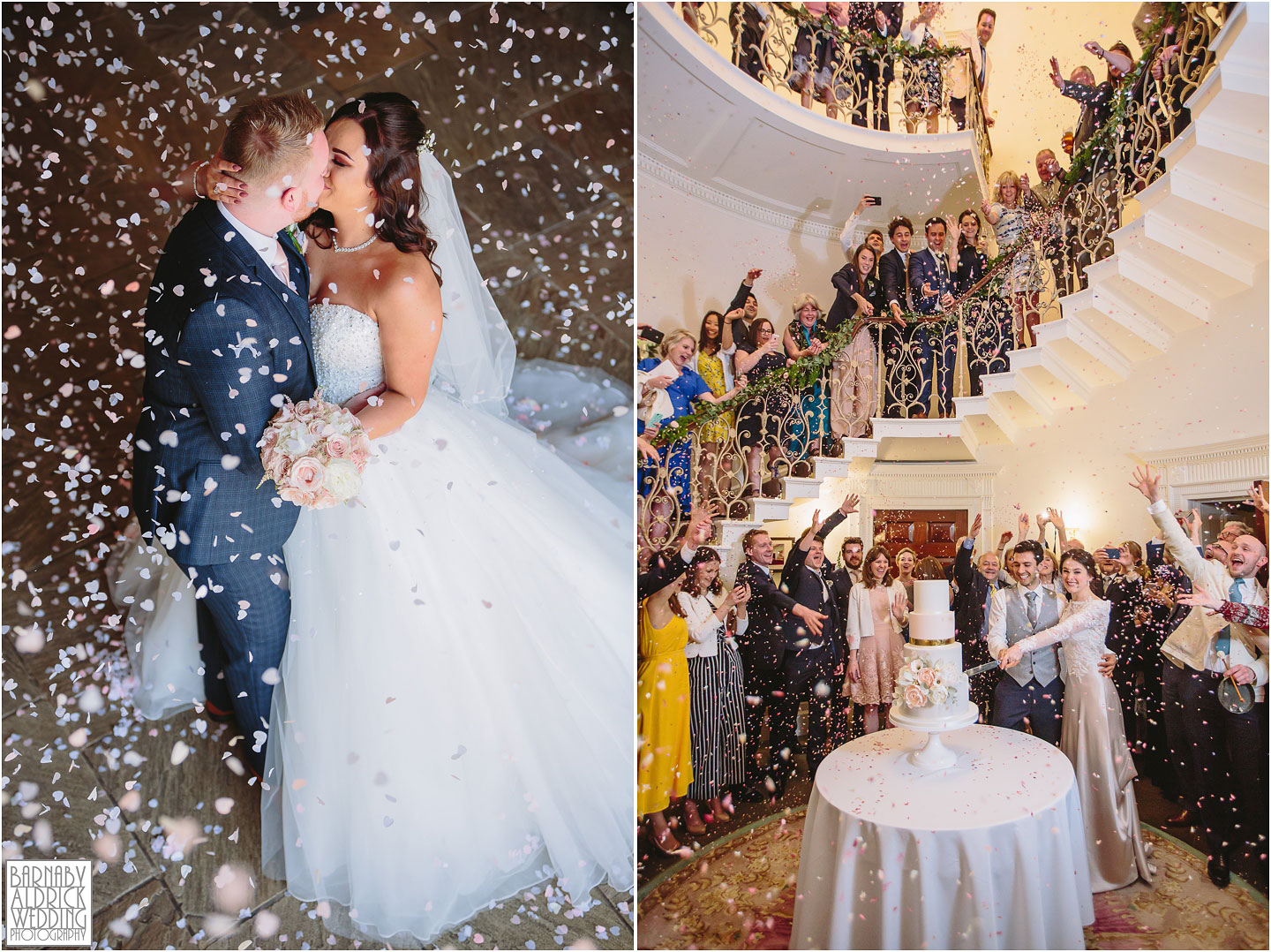Priory Cottages Confetti photo, Amazing Yorkshire Wedding Photos, Best Yorkshire Wedding Photos 2018