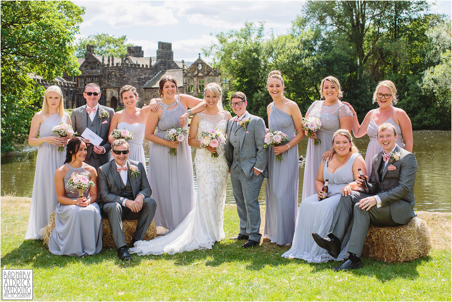 Beautiful Group wedding photo at East Riddlesden Hall, Amazing Yorkshire Wedding Photos, Best Yorkshire Wedding Photos 2018