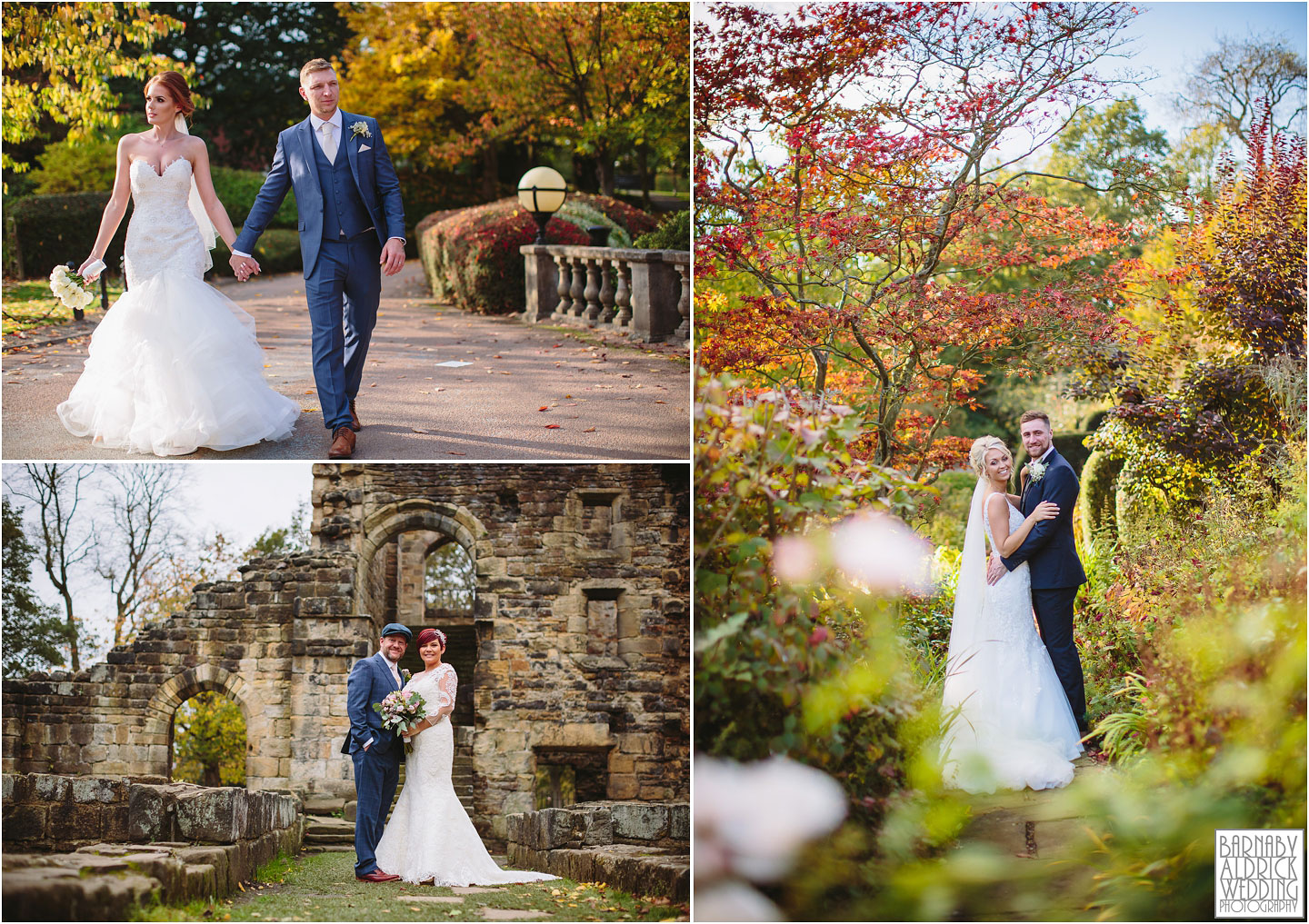 Wedding couple photos at Kirkstall Abbey near Leeds Amazing Yorkshire Wedding Photos, Best Yorkshire Wedding Photos 2018