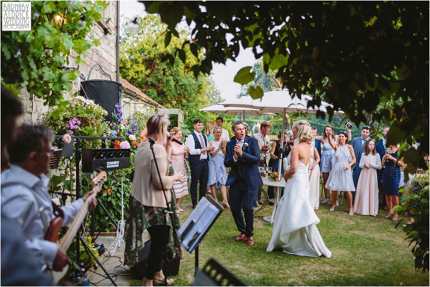 Outdoor evening first dance at The Pheasant in Harome near Helmsley, Amazing Yorkshire Wedding Photos, Best Yorkshire Wedding Photos 2018