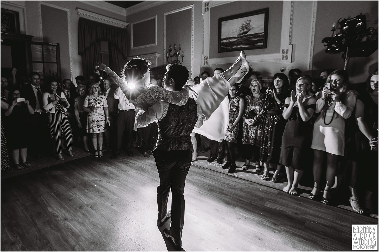 First Dance at Denton Hall near Ilkley in Wharfdale, Amazing Yorkshire Wedding Photos, Best Yorkshire Wedding Photos 2018