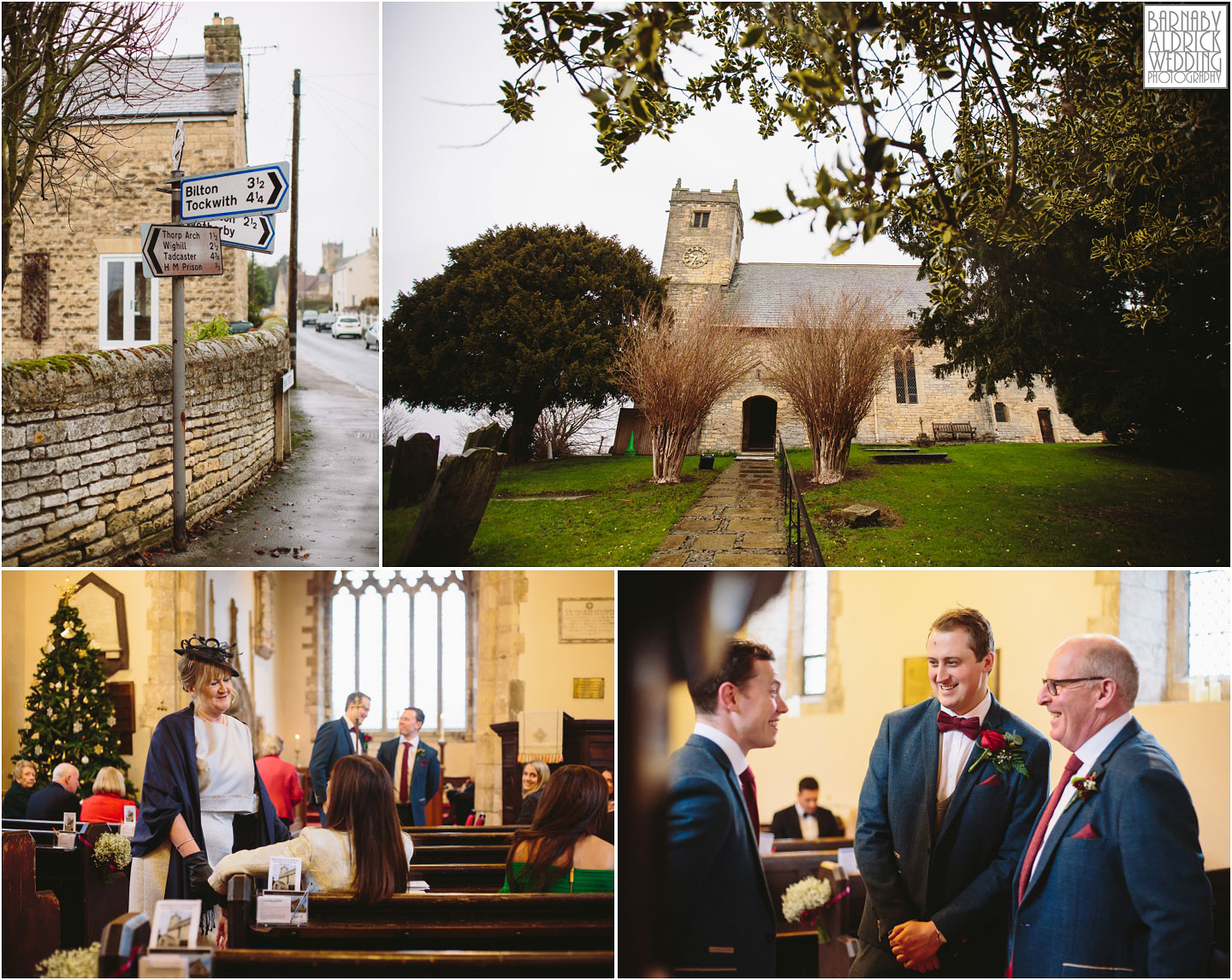 Wedding photography at St Peter's Church near Wetherby, Priory Cottages Barn Wedding Venue Photos, Yorkshire Barn Venue Photos