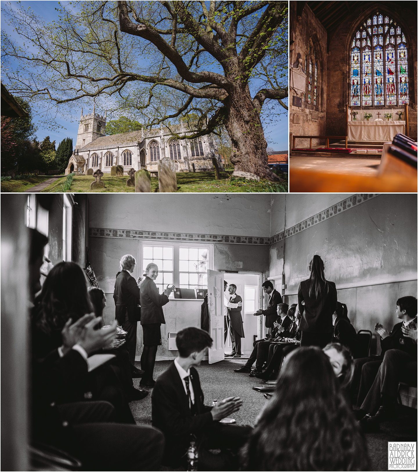 All Saints Church at Bolton Percy in Yorkshire, Priory Cottages Wedding photography