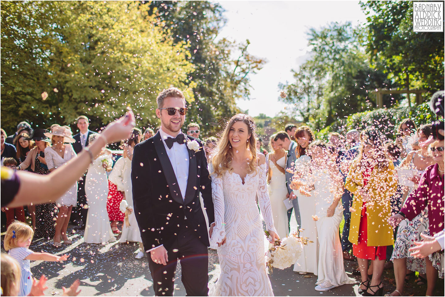 Confetti shot at Hornington Manor, Hornington Manor Wedding Photography, Hornington Manor Wedding Photographer, Yorkshire Wedding, Yorkshire Wedding Photographer, York Luxury Barn Wedding Venue, Yorkshire farmhouse Wedding Barn