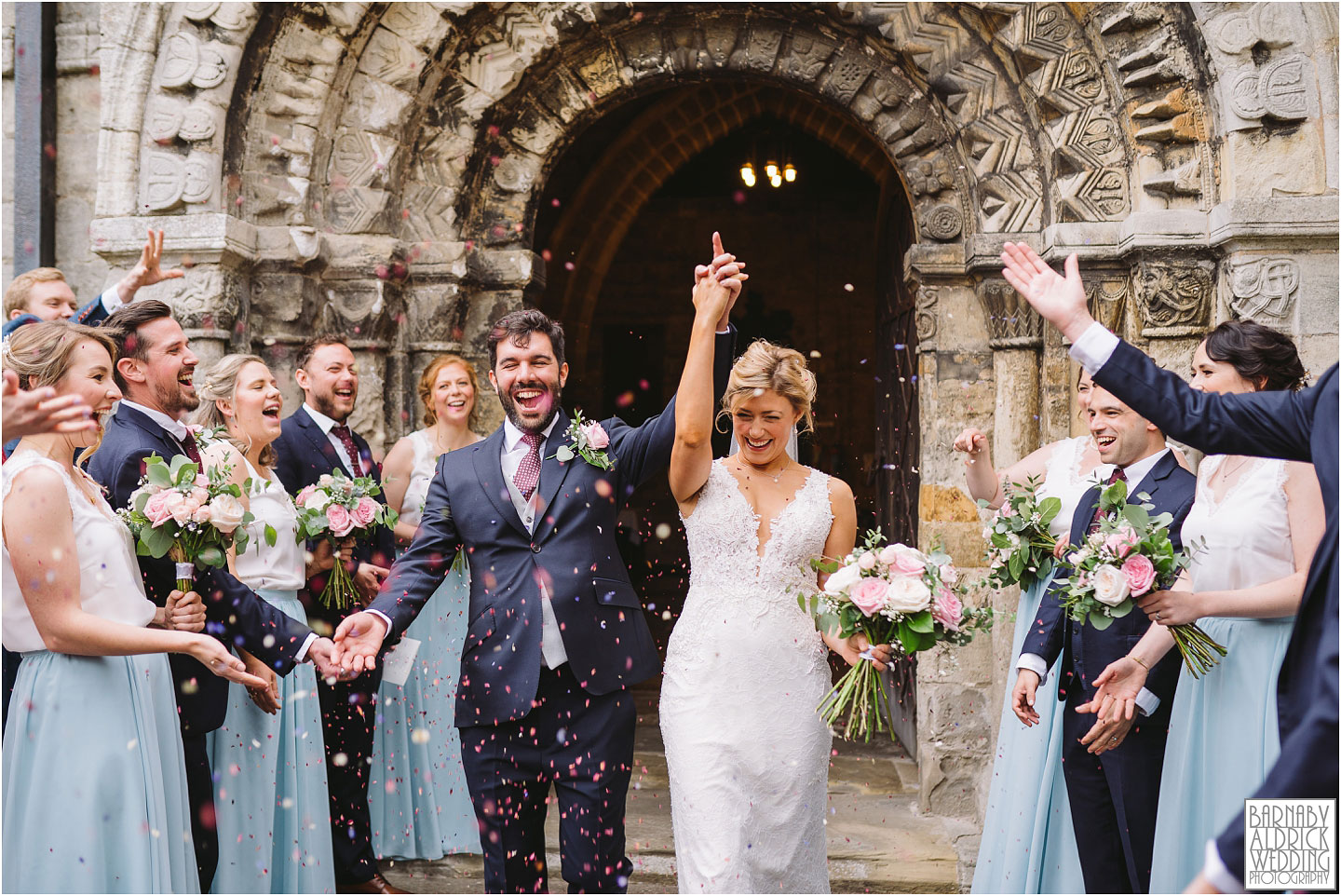 Church confetti before a Papakata Sperry Tent Garden Wedding reception, Garden Marquee Wedding, Papakata Sperry Tent Wedding, Sperry Tent Marquee Wedding, Yorkshire garden Marquee Wedding company