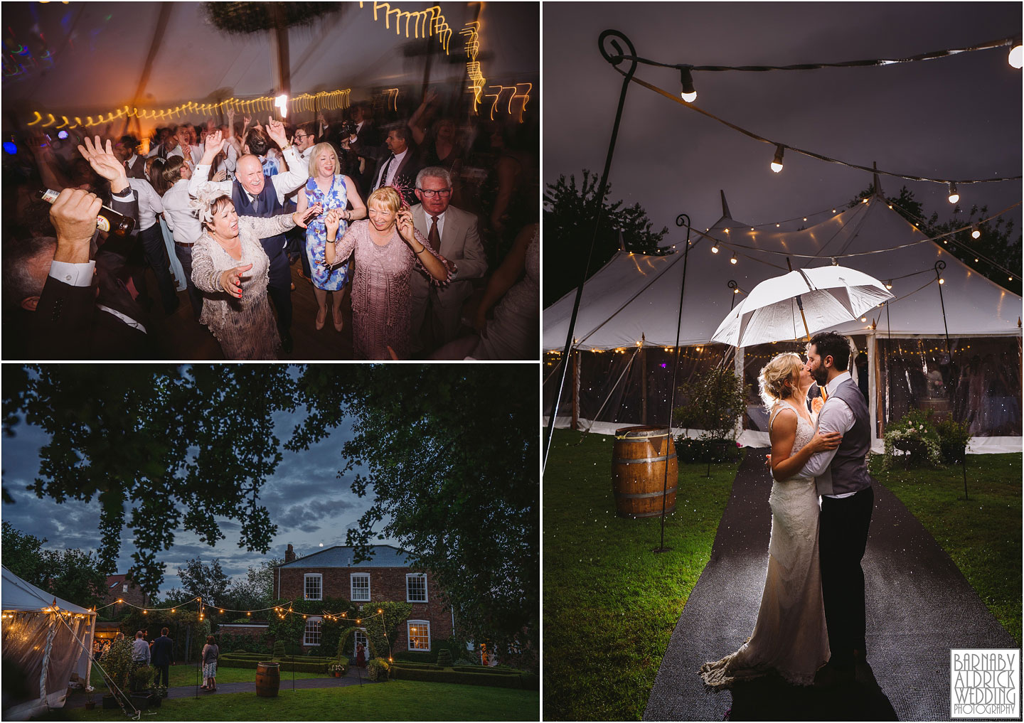 Evening wedding photos of a Papakata Sperry Tent Garden Wedding, Garden Marquee Wedding, Papakata Sperry Tent Wedding, Sperry Tent Marquee Wedding, Yorkshire garden Marquee Wedding company
