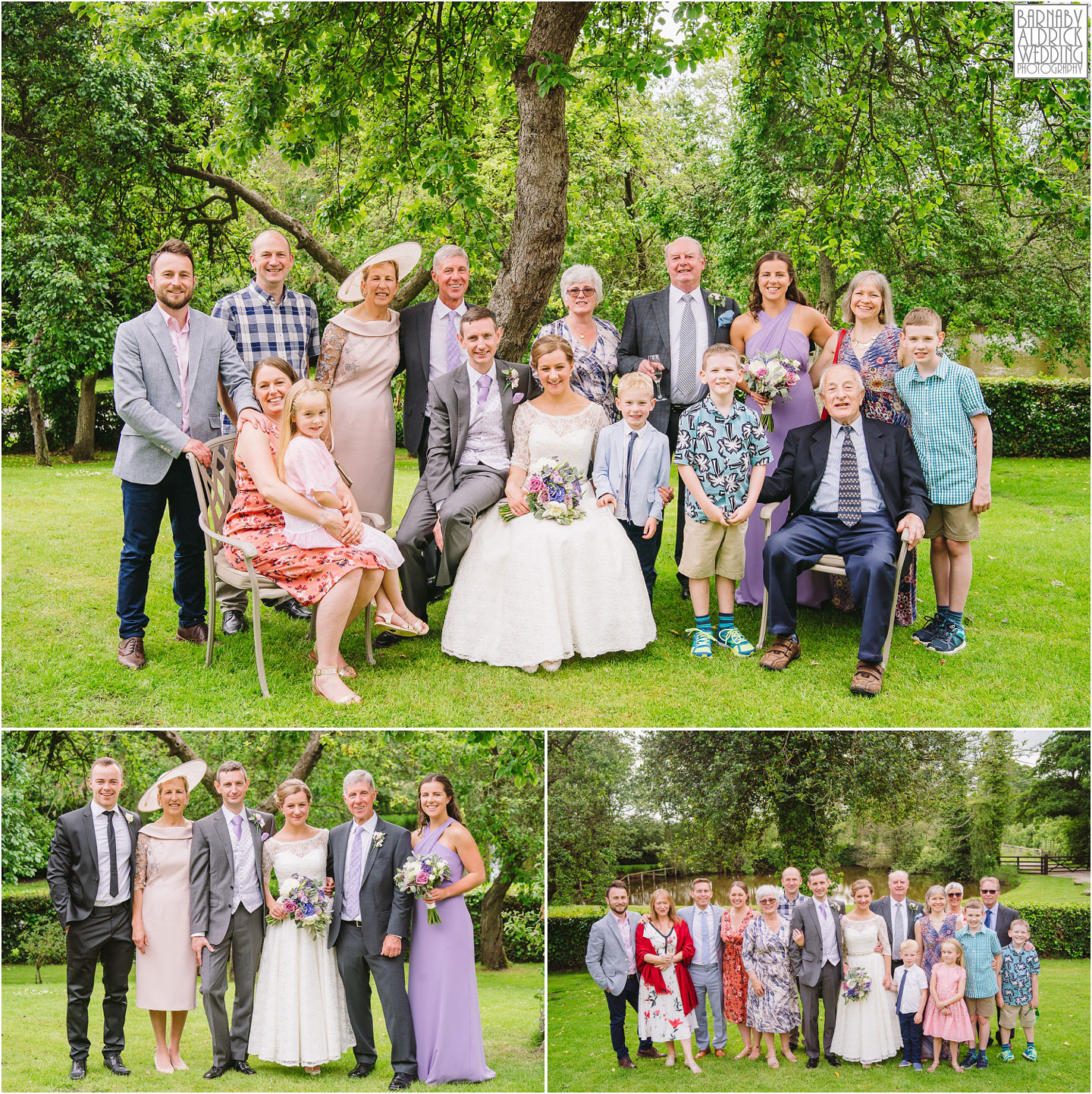 Wedding Group photos at The Pheasant Hotel Harome, The Pheasant Hotel Wedding Helmsley, Wedding Photography at The Pheasant Hotel North Yorkshire, North Yorkshire Wedding Photographer