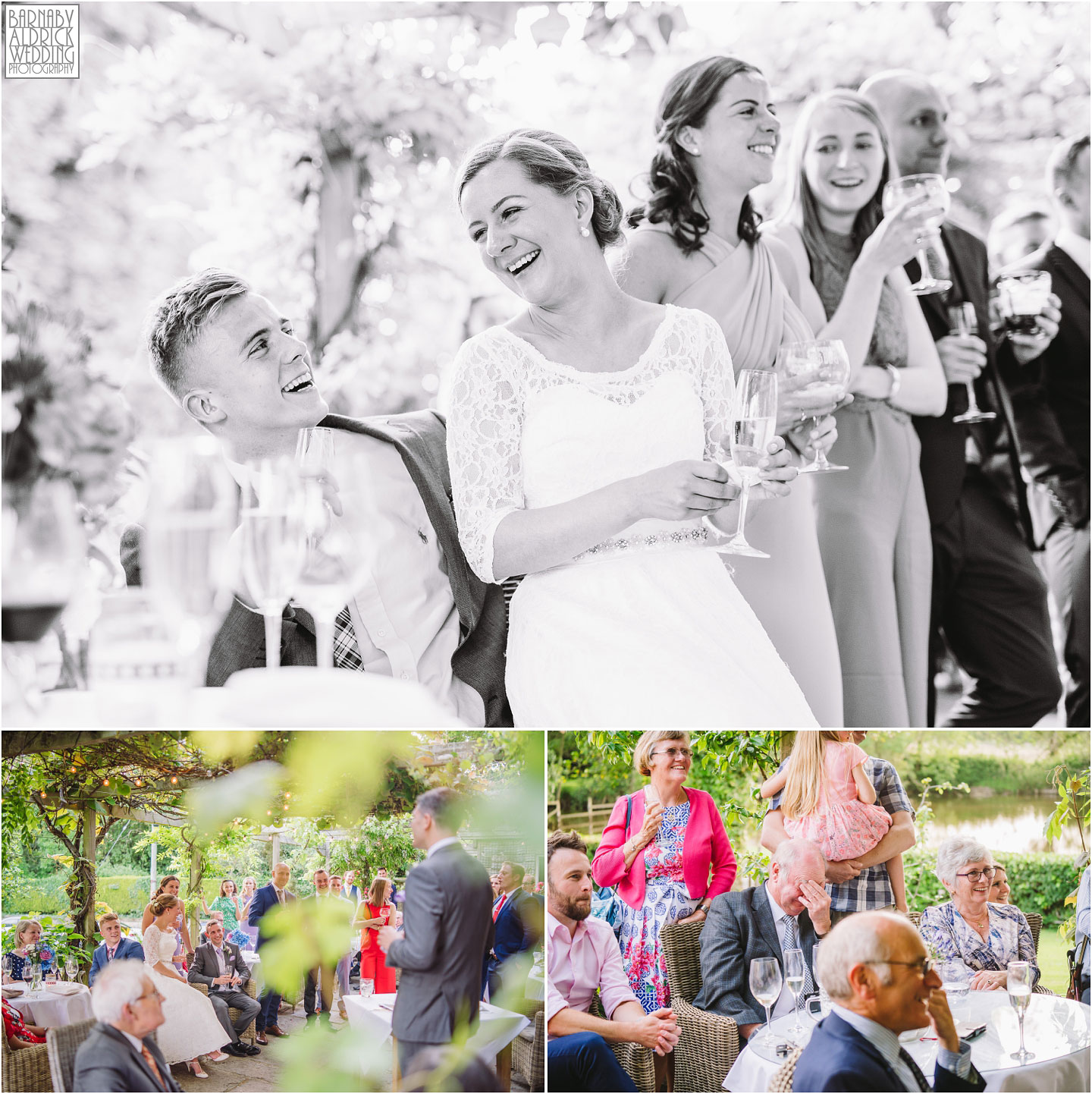 Outdoor Wedding speeches at The Pheasant Hotel Harome, The Pheasant Hotel Wedding Helmsley, Wedding Photography at The Pheasant Hotel North Yorkshire, North Yorkshire Wedding Photographer