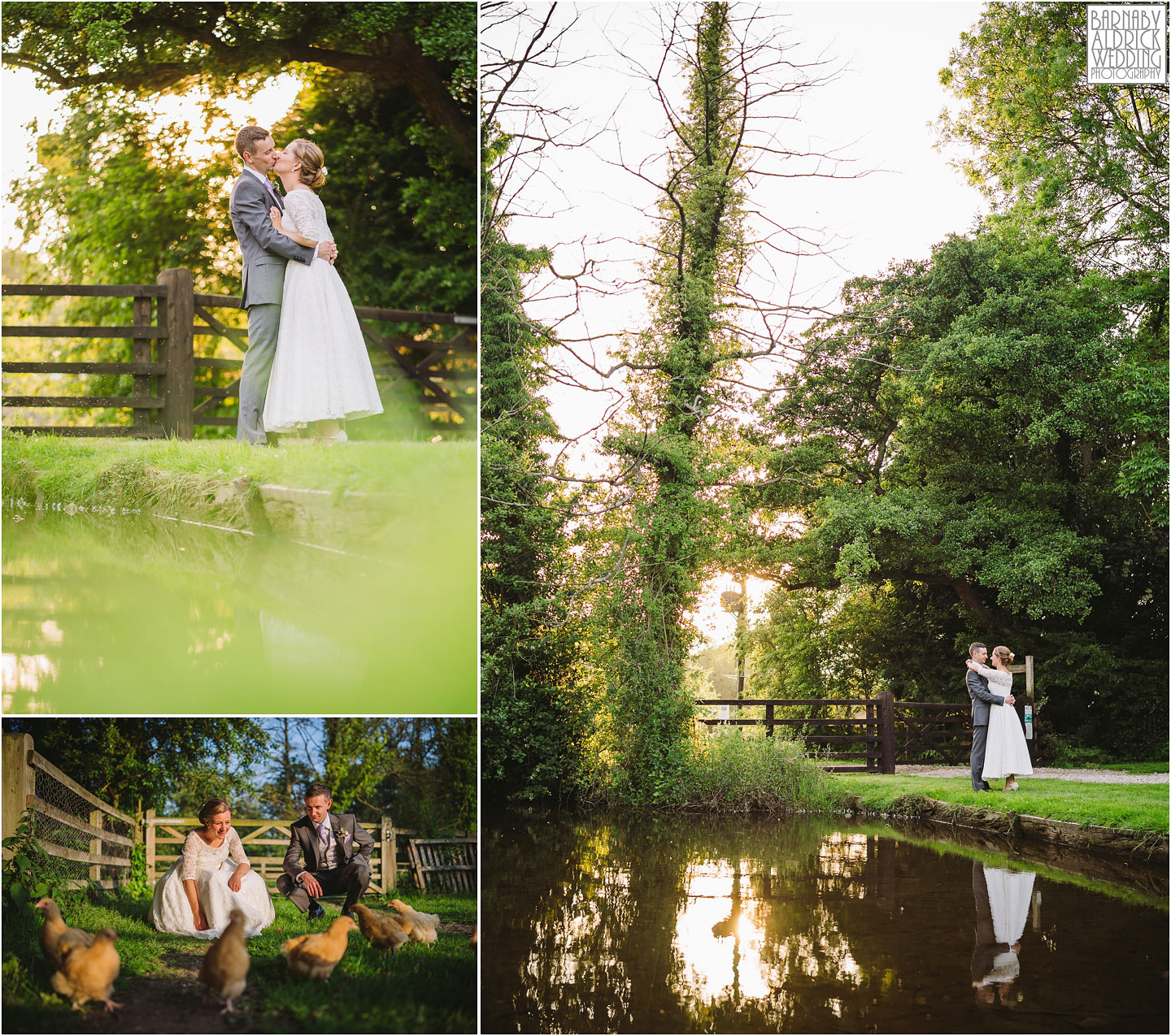 Golden hour evening portraits at The Pheasant Hotel Harome, The Pheasant Hotel Wedding Helmsley, Wedding Photography at The Pheasant Hotel North Yorkshire, North Yorkshire Wedding Photographer