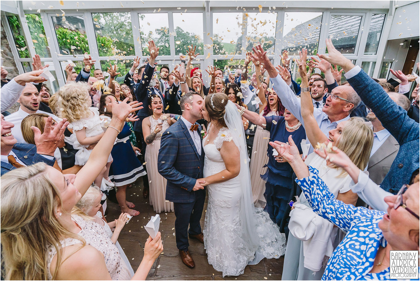 Confetti, Coniston Hotel Skipton Wedding Photos, Coniston Hotel & Spa Wedding Photographer, Yorkshire Dales Wedding Venue Photos