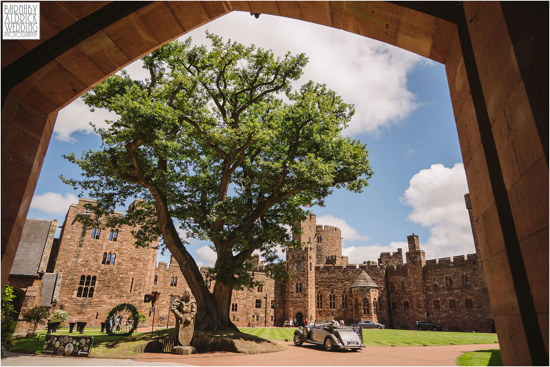Wedding car at Peckforton Castle, Cheshire Wedding Photography at Peckforton Castle, Peckforton Castle Wedding, UK Castle Wedding