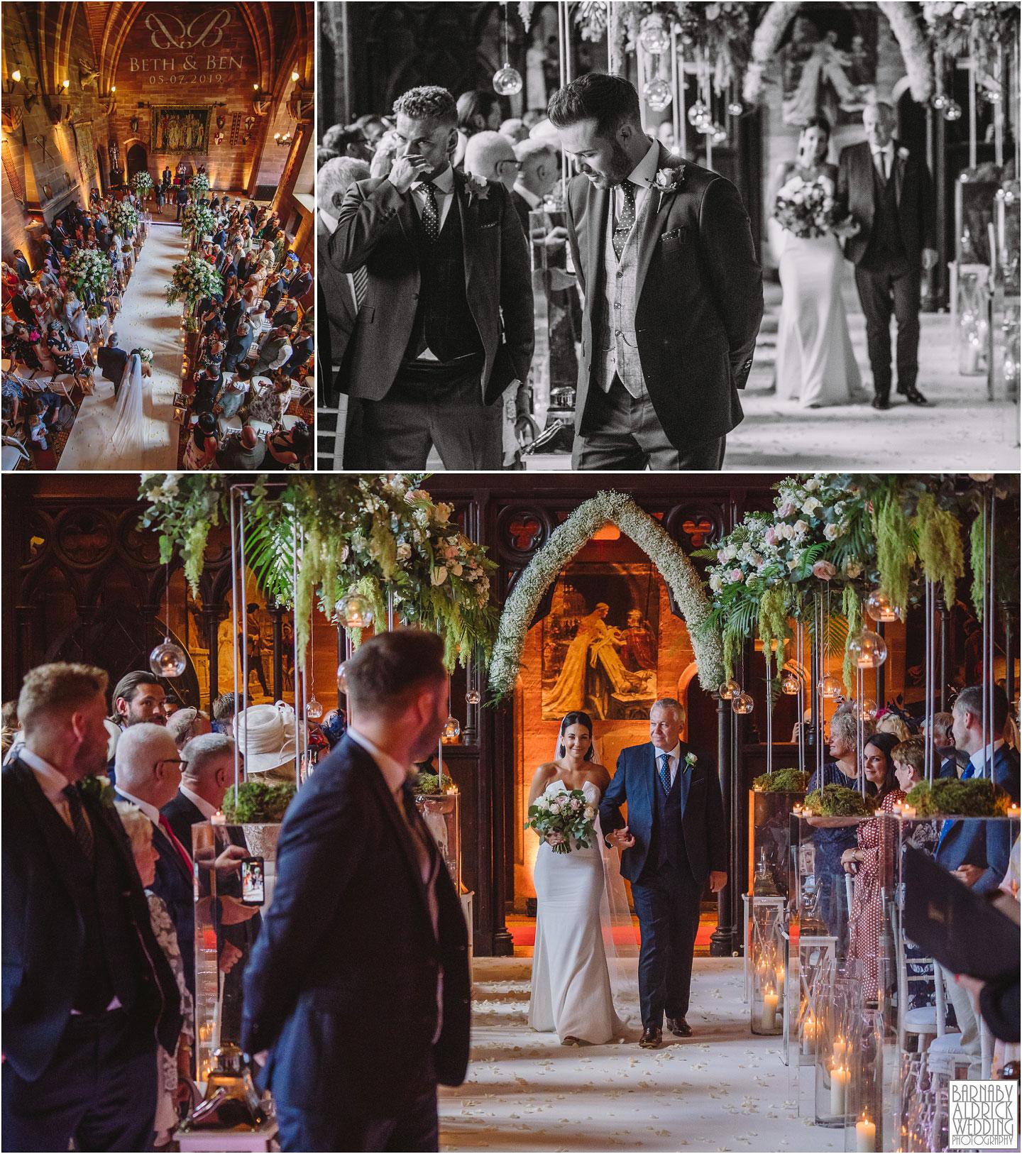 Wedding ceremony at Peckforton Castle, Cheshire Wedding Photography at Peckforton Castle, Peckforton Castle Wedding, UK Castle Wedding