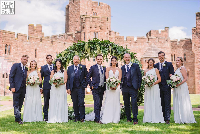 Wedding party group photos at Peckforton Castle, Cheshire Wedding Photography at Peckforton Castle, Peckforton Castle Wedding, UK Castle Wedding