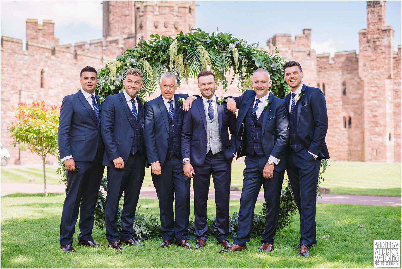 Groomsman wedding photos at Peckforton Castle, Cheshire Wedding Photography at Peckforton Castle, Peckforton Castle Wedding, UK Castle Wedding