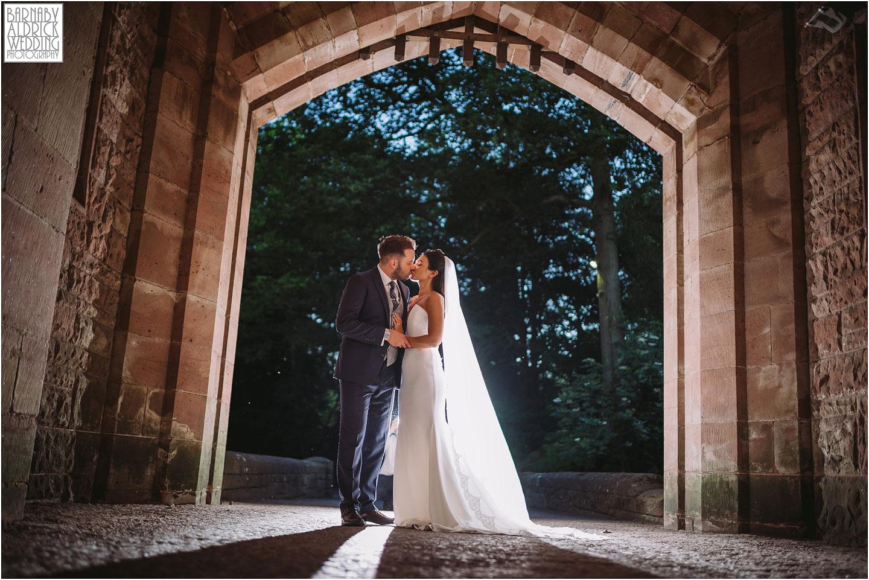 Evening wedding portraits at Peckforton Castle in Cheshire, Cheshire Wedding Photography at Peckforton Castle, Peckforton Castle Wedding, UK Castle Wedding