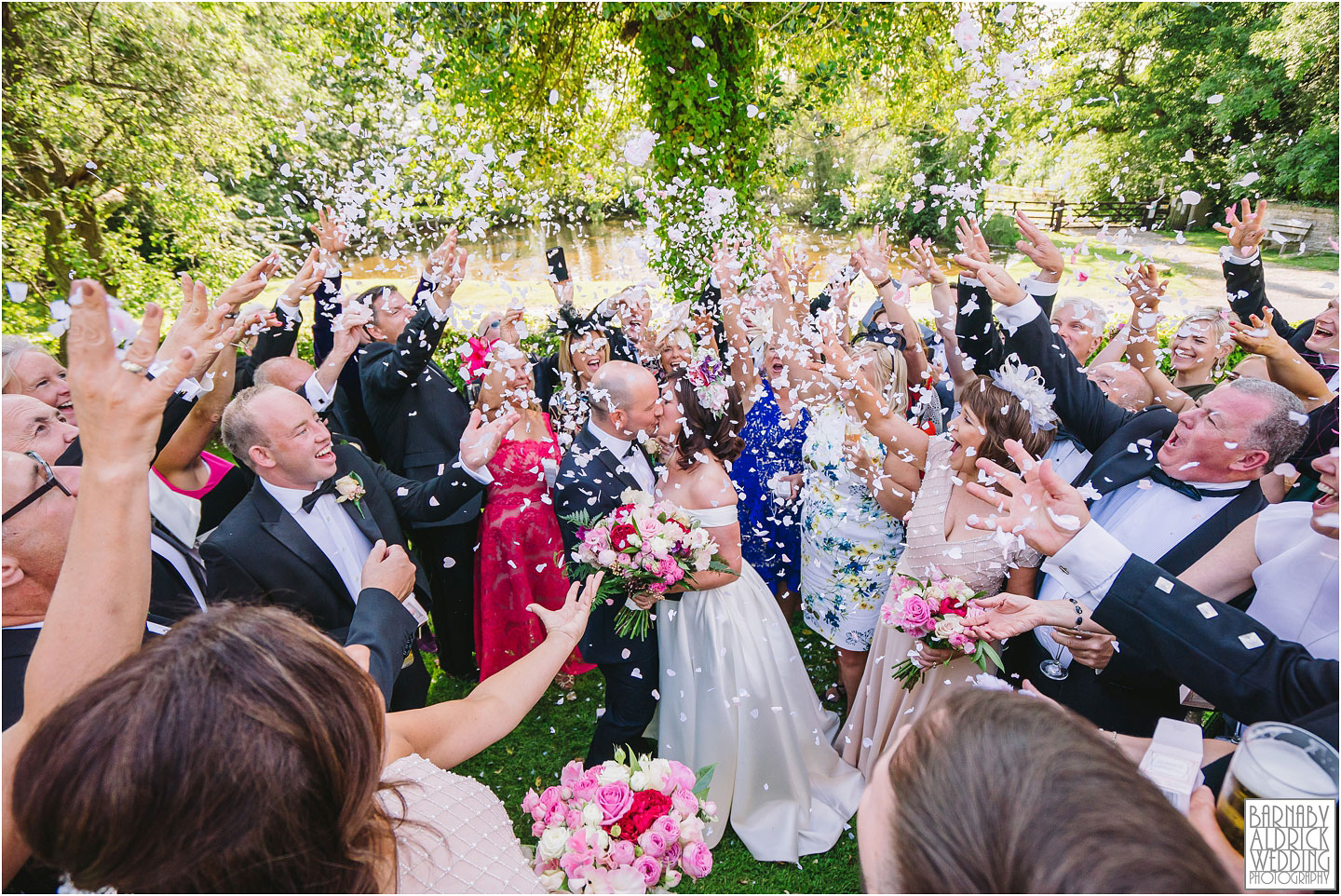 Confetti at the Pheasant, Harome Wedding Photography, The Pheasant Hotel Wedding, Wedding Photography at The Pheasant Hotel North Yorkshire, North Yorkshire Wedding Photographer