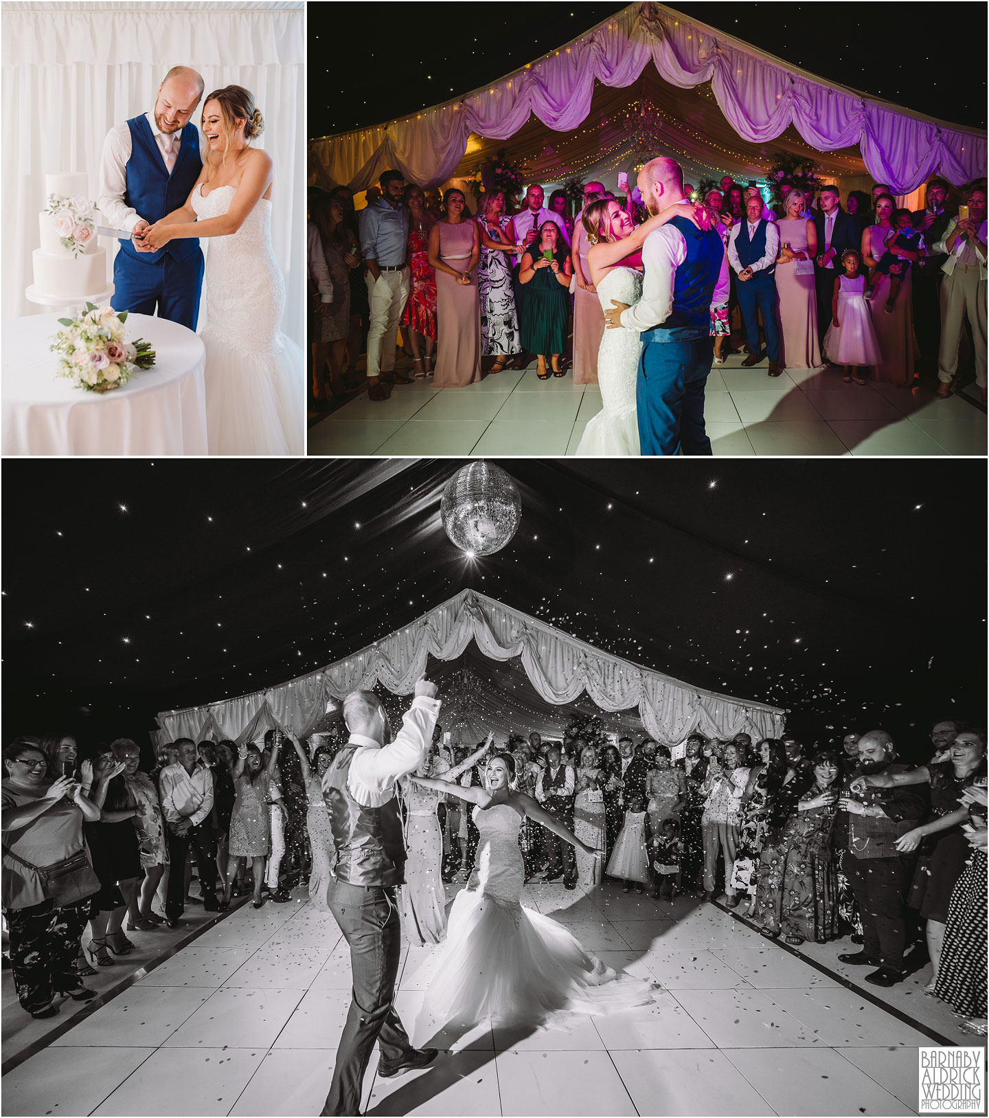 First Dance at Priory Cottages in Yorkshire, Wedding photos at Priory Cottages, The Priory Yorkshire