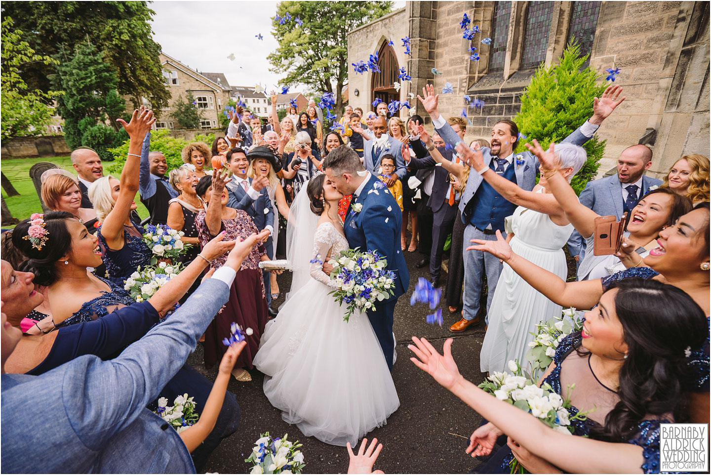 Confetti photograph Wood Hall Hotel Wetherby, Wood Hall Wedding Photos, Wood Hall Wedding PHotographer