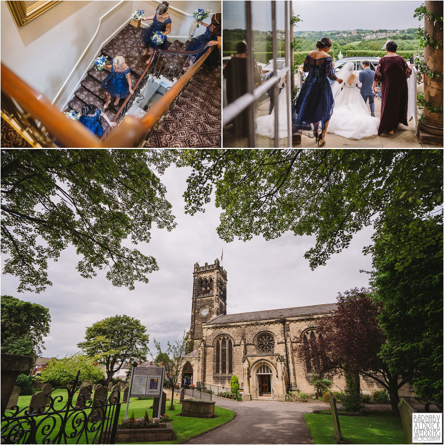 Wedding Photography at St James' church in Wetherby