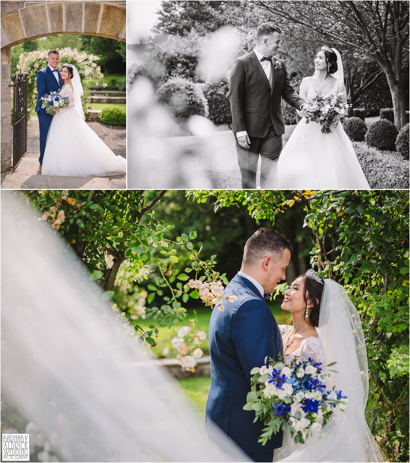 Wood Hall Hotel Wetherby wedding couple portraits, Wood Hall Wedding Photos, Wood Hall Wedding Photographer