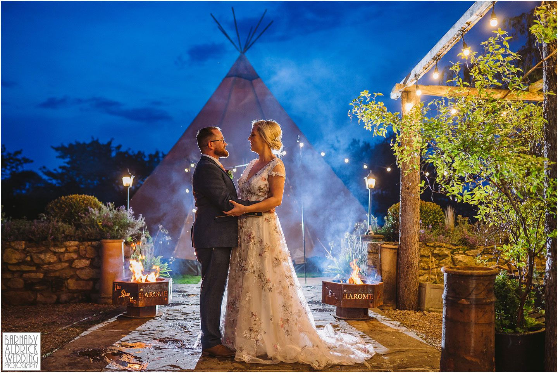 Papakata tipi wedding portrait, Star Harome Wedding Photographer, Star Inn Harome Wedding Photography by Yorkshire Wedding Photographer Barnaby Aldrick, Star Inn wedding, Yorkshire wedding