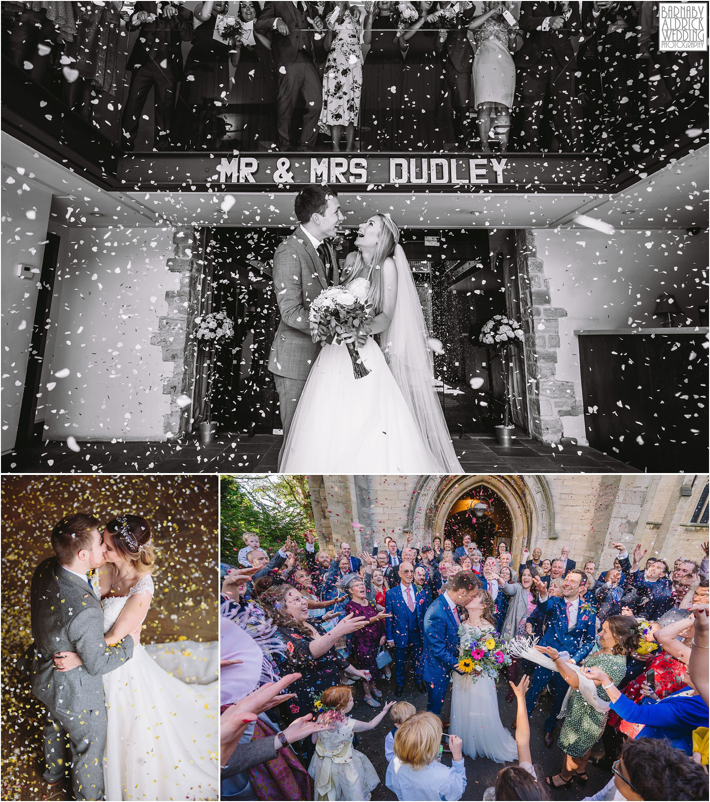 Priory Cottages Confetti photo