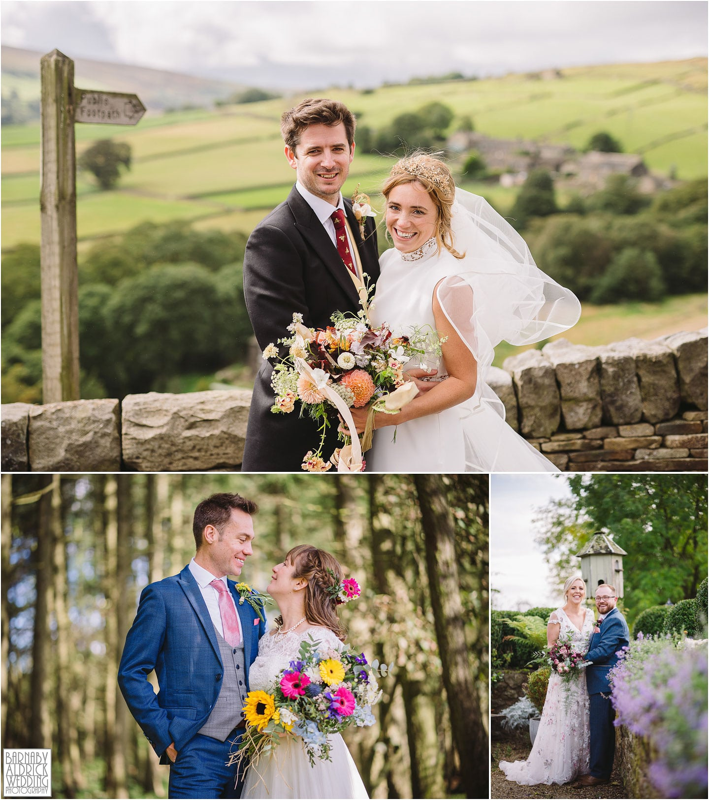 Relaxed bride and groom portraits