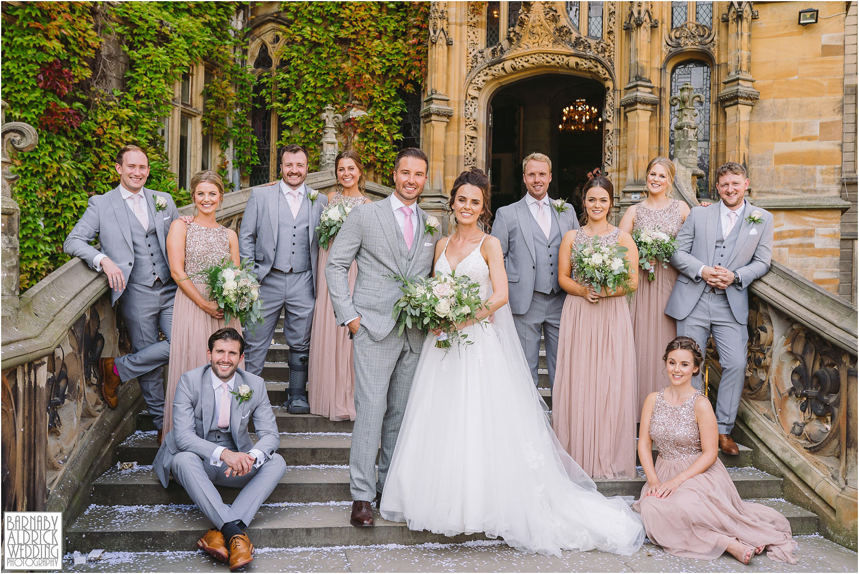 Smart wedding party group photos