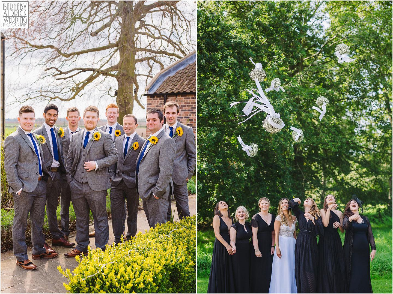 Fun bridesmaids and groomsmen group photos