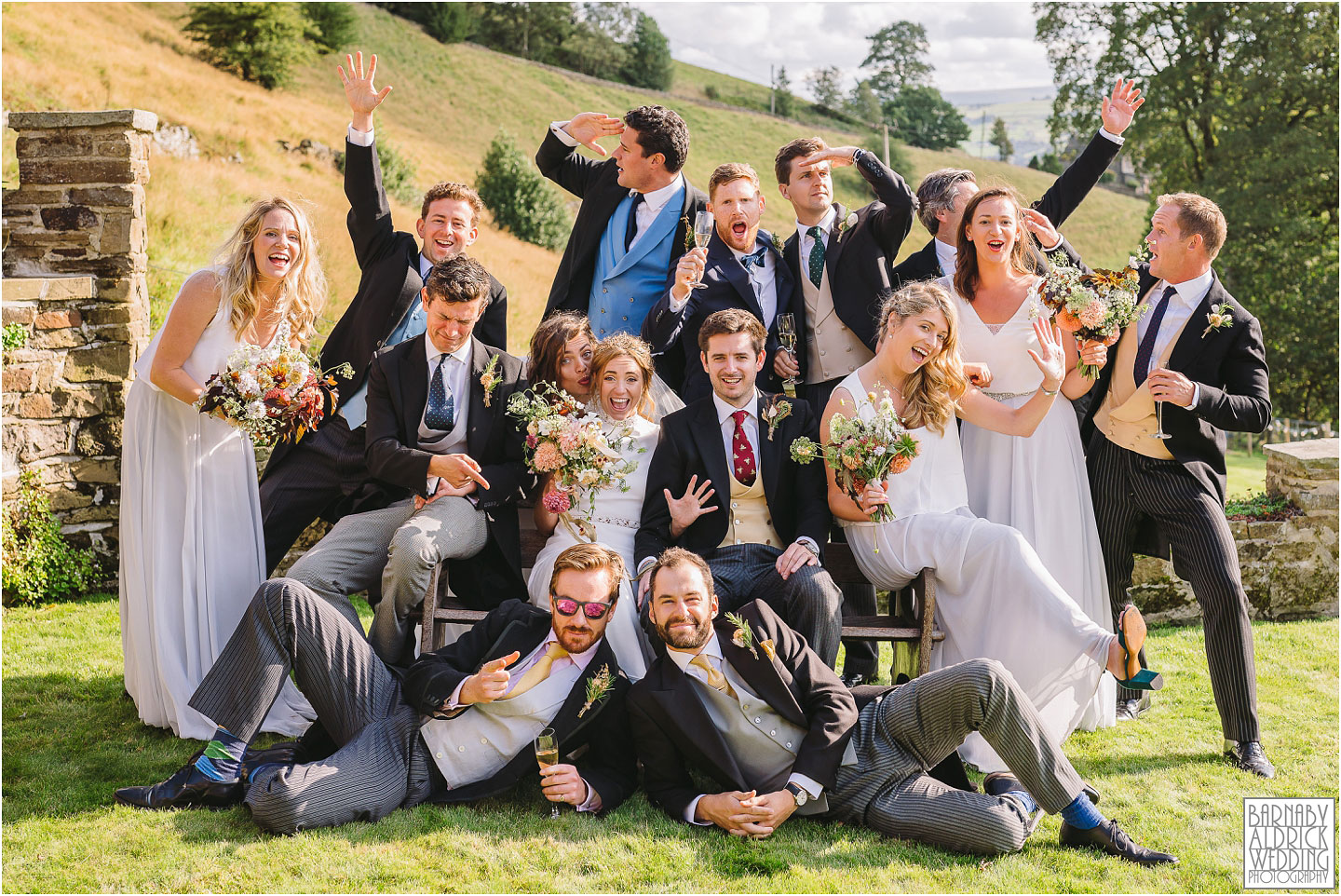 Amazing bridesmaids and groomsmen group photos